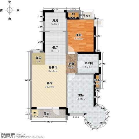 丽湖名居2室1厅1卫1厨113.00㎡户型图