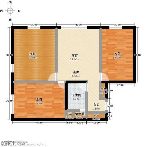 MOMA峰汇3室1厅1卫0厨121.00㎡户型图