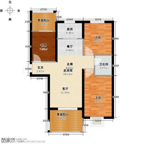 东方太阳城3室0厅1卫1厨91.81㎡户型图