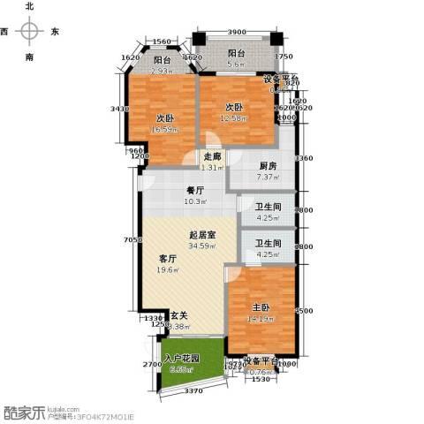 东方名城3室0厅2卫1厨151.00㎡户型图