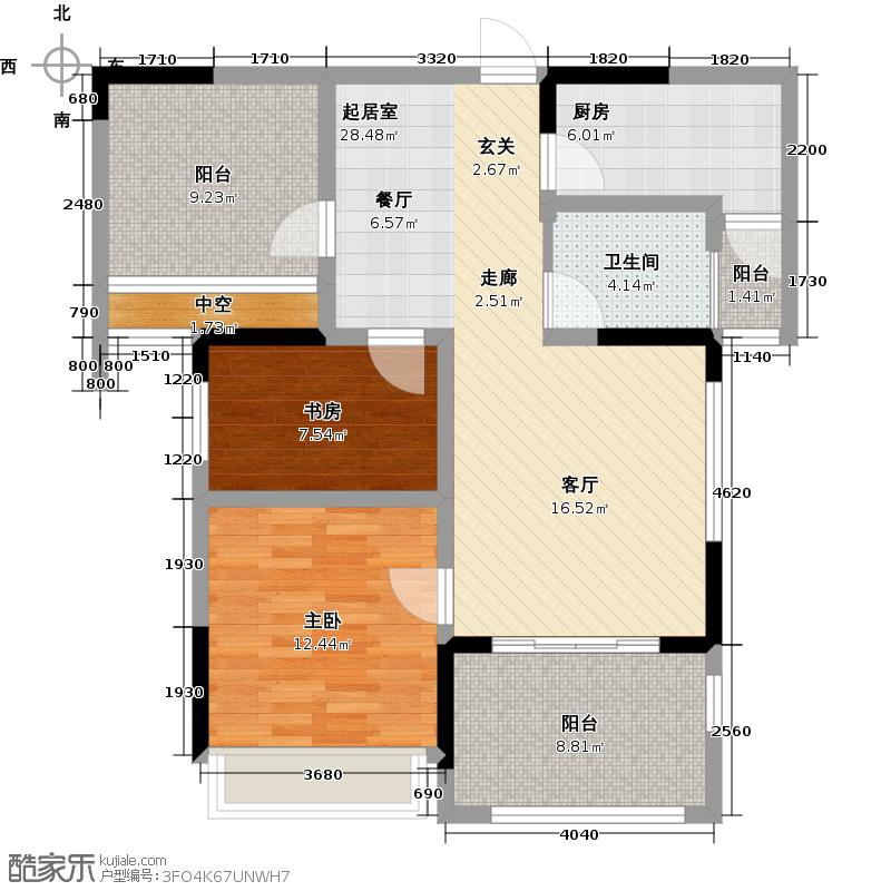 招商小石城93.00㎡花园公寓A3户型