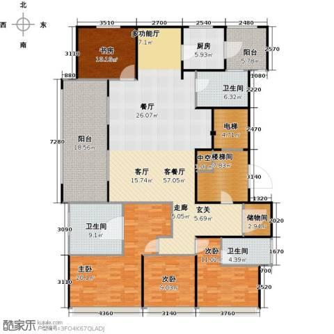 景瑞望府4室1厅3卫1厨187.00㎡户型图