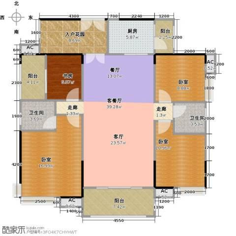 远洋启宸1室1厅2卫1厨141.00㎡户型图