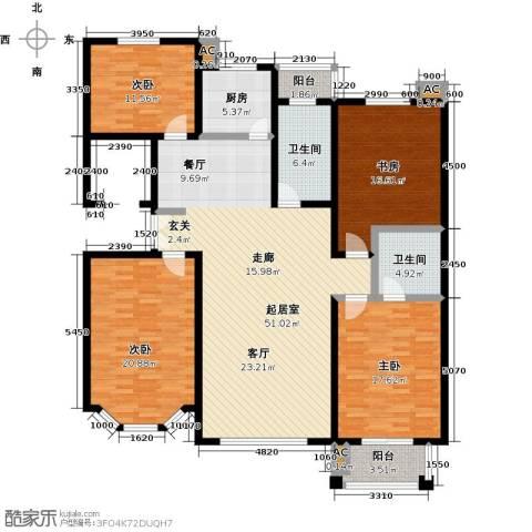 五洲太阳城4室0厅2卫1厨200.00㎡户型图