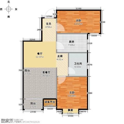 英伦假日2室1厅1卫1厨111.00㎡户型图