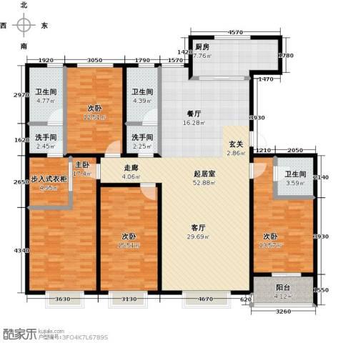 紫阙台4室0厅3卫1厨205.00㎡户型图