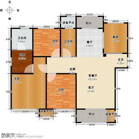 景瑞望府4室1厅2卫1厨137.00㎡户型图