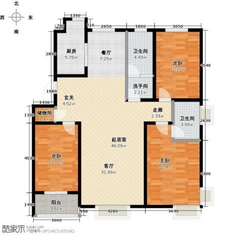 紫阙台3室0厅2卫1厨151.00㎡户型图