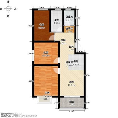 海通港城花园3室0厅1卫1厨97.00㎡户型图