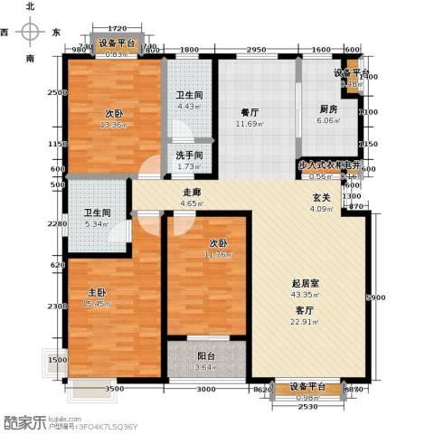紫阙台3室0厅2卫1厨154.00㎡户型图