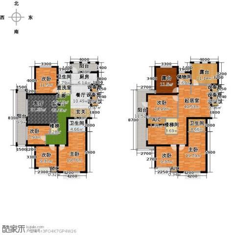 中乐百花公馆7室1厅3卫1厨371.00㎡户型图