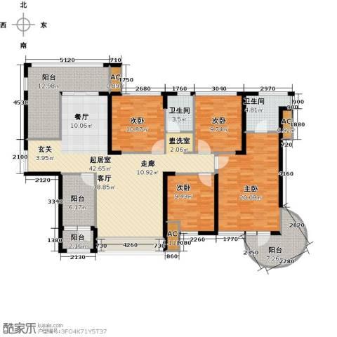 金沙世纪城4室0厅2卫0厨187.00㎡户型图