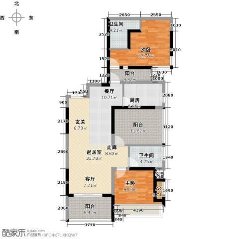 金沙世纪城2室0厅2卫1厨103.00㎡户型图