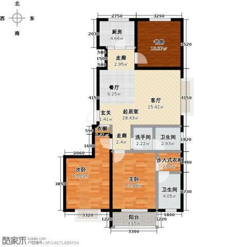 紫阙台3室0厅2卫1厨120.00㎡户型图