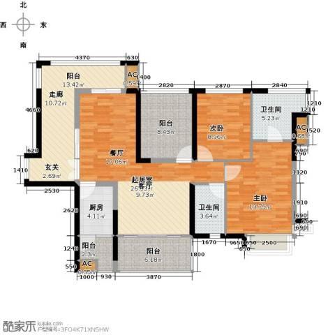 金沙世纪城2室0厅2卫1厨111.00㎡户型图