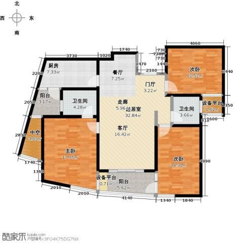 领秀冠南苑3室0厅2卫1厨120.00㎡户型图
