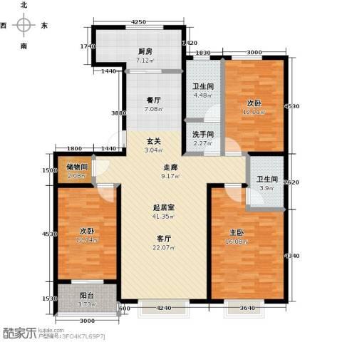 紫阙台3室0厅2卫1厨148.00㎡户型图