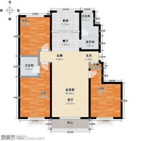 紫阙台3室0厅2卫1厨137.00㎡户型图