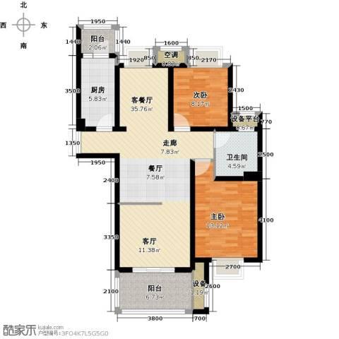 邦泰中央御城2室1厅1卫1厨105.00㎡户型图