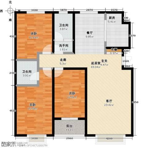紫阙台3室0厅2卫1厨144.00㎡户型图