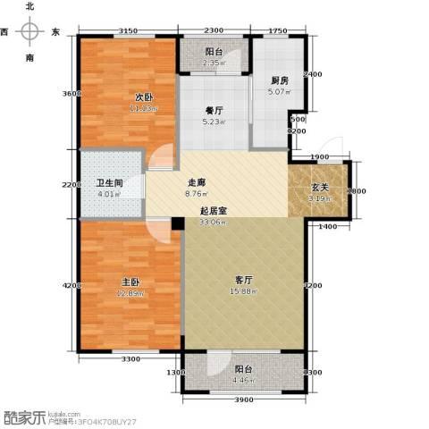 国安宜居2室0厅1卫1厨94.00㎡户型图