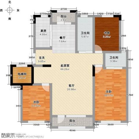 新星宇・之悦3室0厅2卫1厨127.00㎡户型图