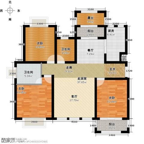 凤凰水城3室0厅2卫1厨135.00㎡户型图