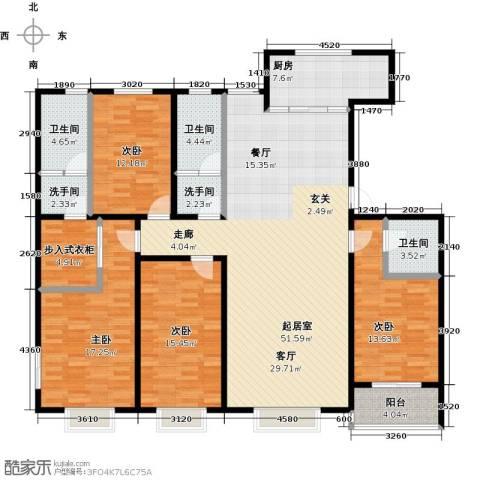 紫阙台4室0厅3卫1厨202.00㎡户型图