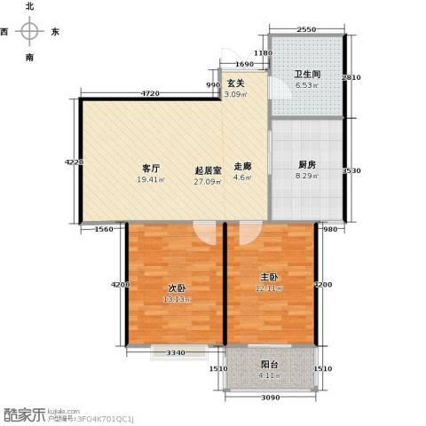 腾运世元2室0厅1卫1厨76.28㎡户型图