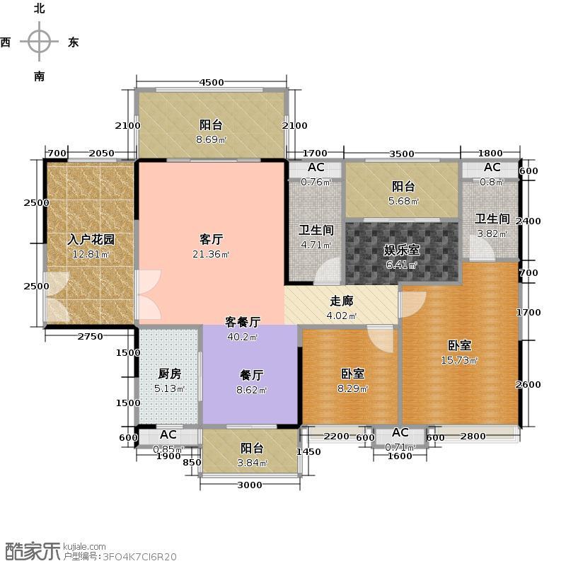 远洋启宸124.00㎡40栋02户型3室2厅2卫