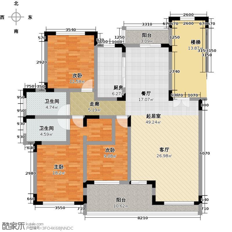 蠡湖一号152.00㎡花园洋房Y2g-1户型3室2厅2卫