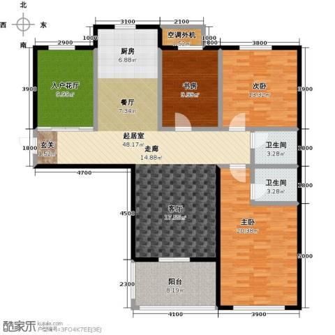 海韵馨园3室0厅2卫0厨165.00㎡户型图