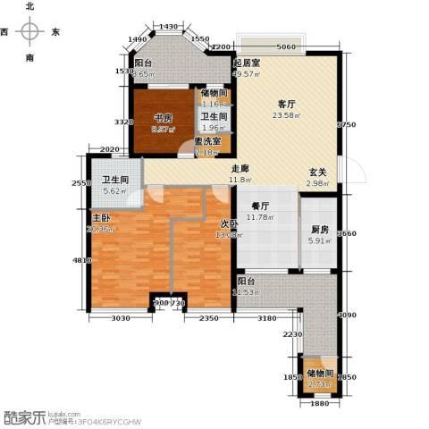 唐程御品3室0厅2卫1厨146.00㎡户型图