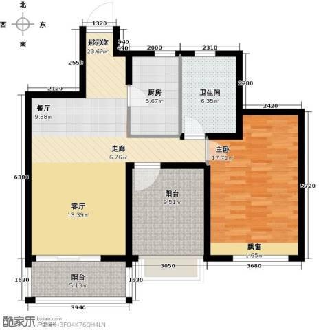 华明星海湾1室0厅1卫1厨84.00㎡户型图
