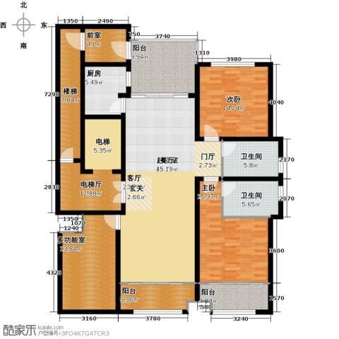 海鑫花园2室0厅2卫1厨168.00㎡户型图