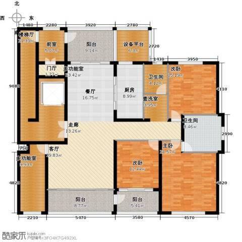 海鑫花园3室0厅2卫1厨218.00㎡户型图