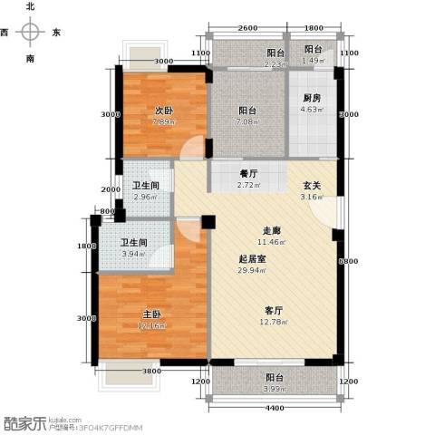 畔山庭院2室0厅2卫1厨108.00㎡户型图