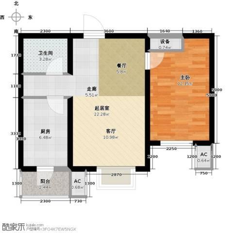 水榭花城1室0厅1卫1厨70.00㎡户型图