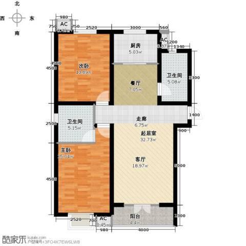 水榭花城2室0厅2卫1厨120.00㎡户型图
