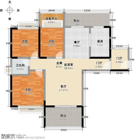 天韵雅苑3室0厅1卫1厨149.00㎡户型图