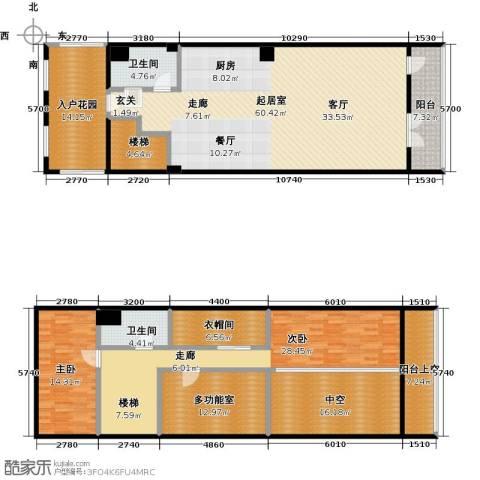 金隅朗峰2室0厅2卫0厨181.11㎡户型图