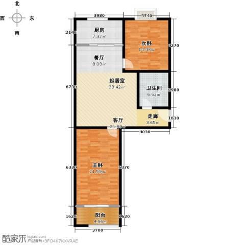 金威怡园2室0厅1卫1厨98.00㎡户型图
