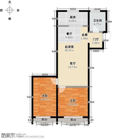 金威怡园2室0厅1卫1厨99.00㎡户型图