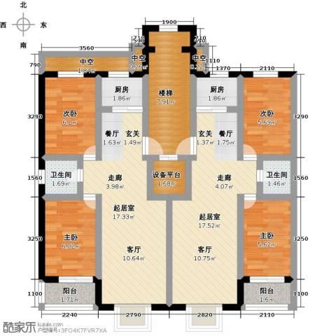 丽景花园4室0厅2卫2厨100.00㎡户型图