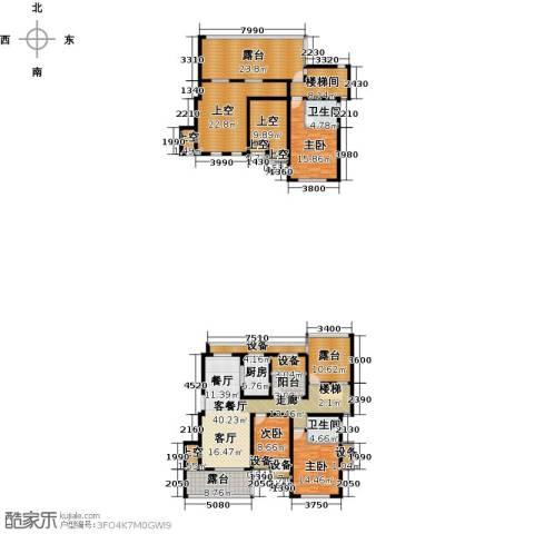 保利海上五月花3室1厅2卫1厨197.26㎡户型图