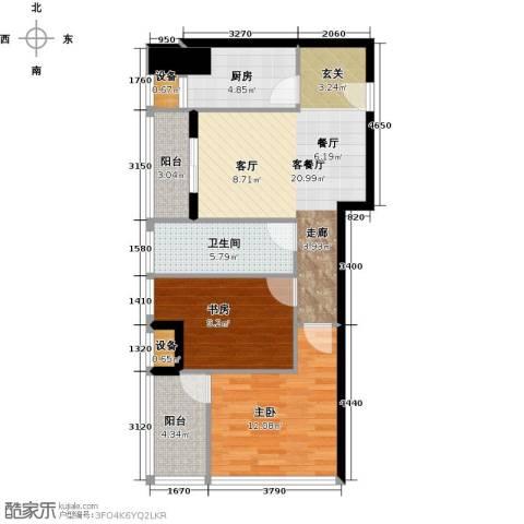 红星国际广场2室1厅1卫1厨92.00㎡户型图