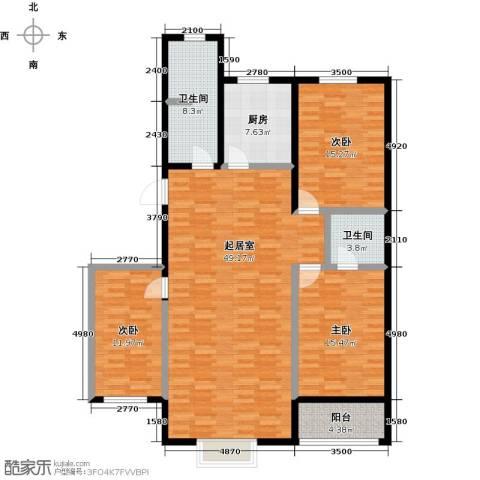 丽景花园3室0厅2卫1厨132.00㎡户型图