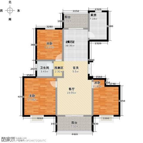 提香湾3室0厅1卫1厨143.00㎡户型图