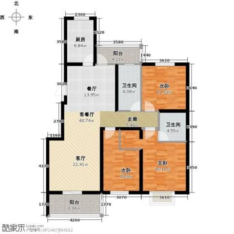 天境3室1厅2卫1厨152.00㎡户型图