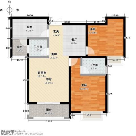 曲江风景线2室0厅2卫1厨104.00㎡户型图